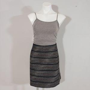 LOFT Stiped Tweed Pencil Skirt